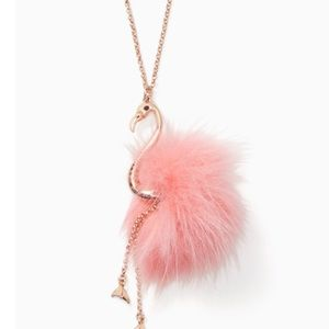 Kate ♠️ Spade Flamingo By the Pool Necklace